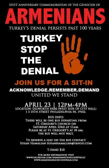 2016 Armenian Genocide Flyer